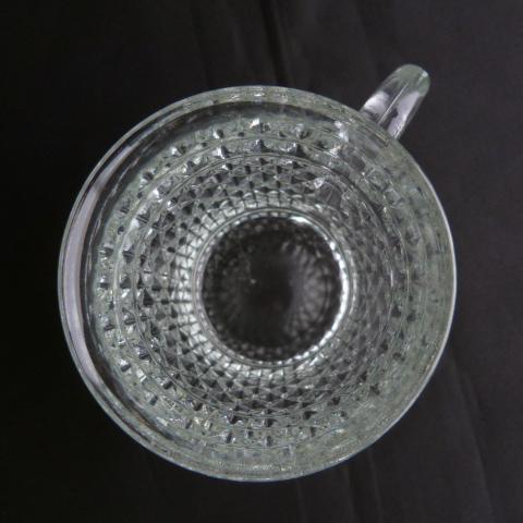 Diamond Point Clear Glass Mug