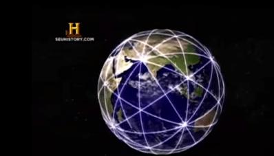Terra dividida em 120 triângulos, pontos de energia. Documentário Canal History, publicado no Youtube.