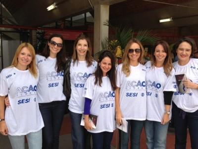 Promotoras do MPE vestiram a camiseta com o símbolo da Globo
