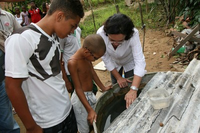 Ação de combate à dengue em Periperi Na foto: Autora: Carol Garcia / AGECOM