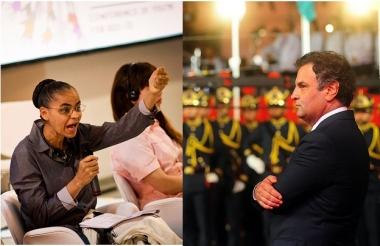 Marina Silva e Aécio Neves: eleitor só de 5 em 5 anos.