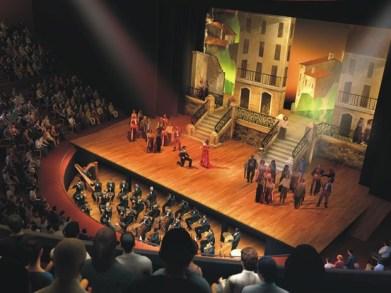 Desenho do projeto original do  futuro Teatro de Ópera de Campinas