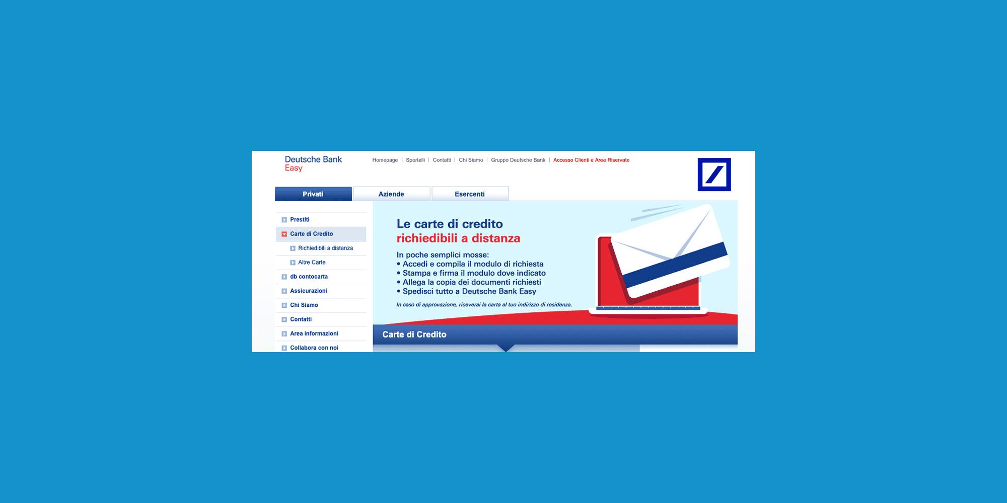 Carta Di Credito Deutsche Bank Caratteristiche Costi