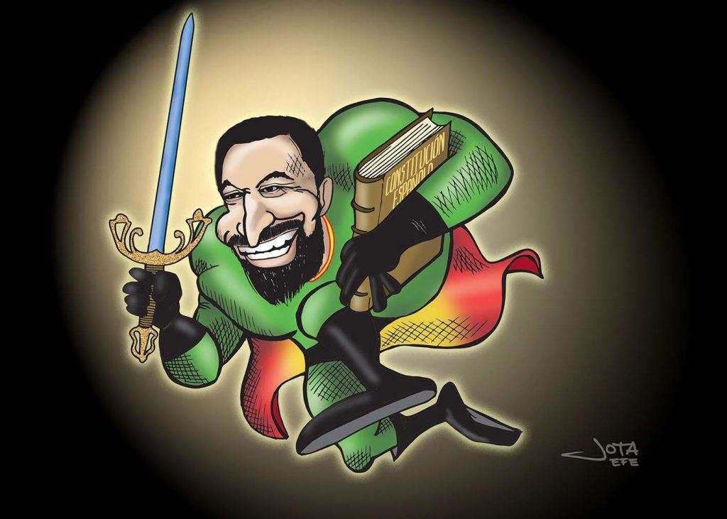 La moción de censura. Santiago Abascal, caricatura. Caricatura de Santiago Abascal