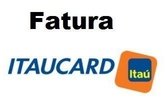 Fatura do cartão Itaucard Itaú