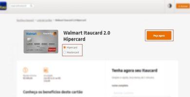 Site Itaú Cartão Hipercard