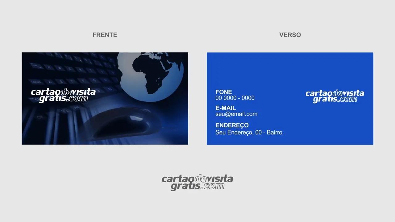 Cartão De Visita Para Técnico Em Informática Modelo Grátis