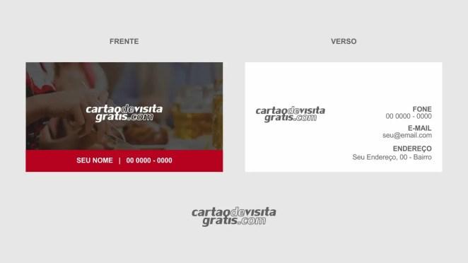 download modelo de cartão de visita restaurante vetor