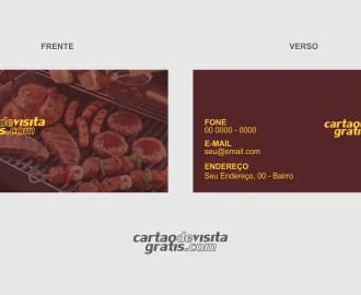 modelo de cartão de visita churrasqueiro