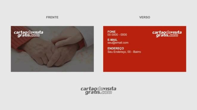 download modelo de cartão de visita cuidador de idosos vetor