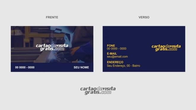 download modelo de cartão de visita serralheria vetor