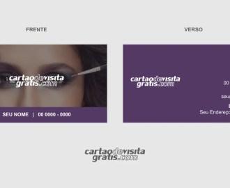 modelo de cartão de visita maquiagem