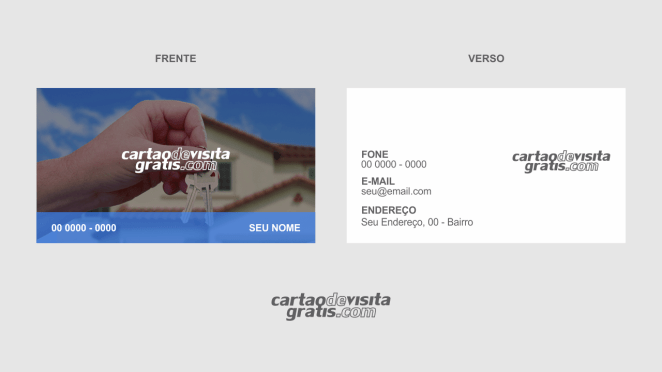 download modelo de cartão de visita chaveiro vetor