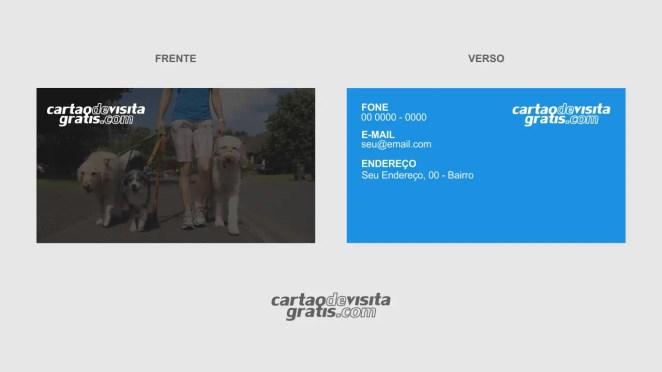 download modelo de cartão de visita dog walker vetor