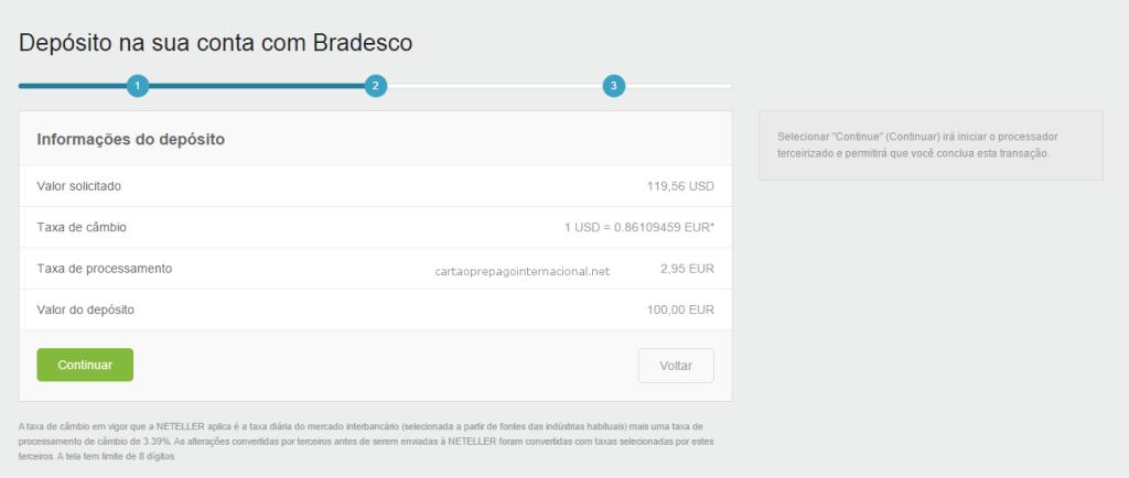 Depositar NETELLER Pelo Bradesco 2