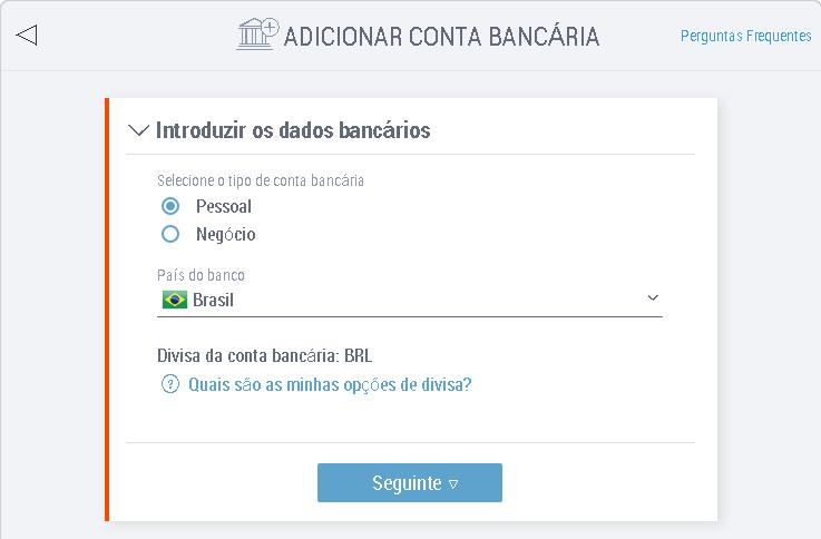 Payoneer sacar conta bancária Brasileira 4