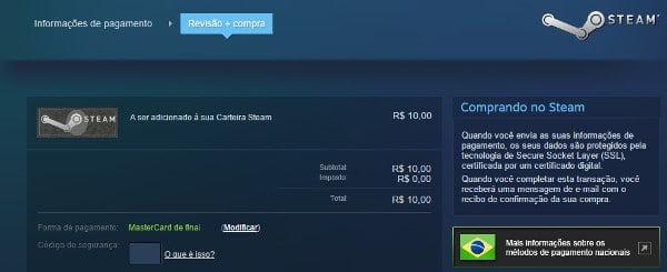 Adicionar Fundos Steam 4