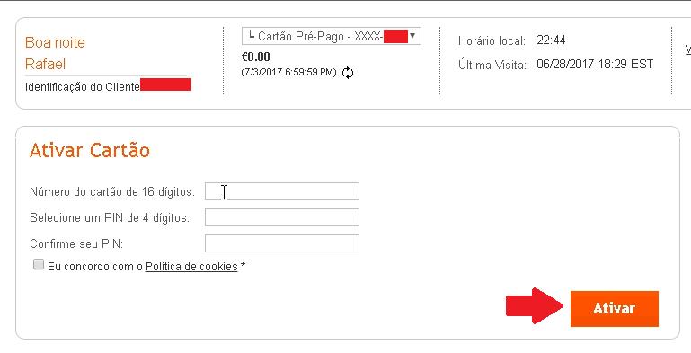 Ativar cartão payoneer 3