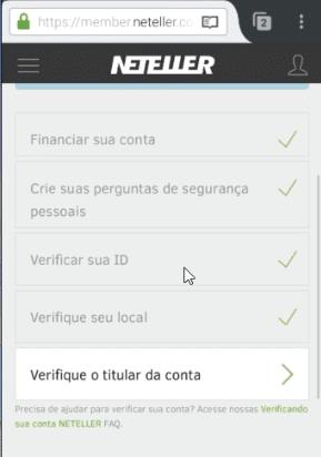 Verificação da conta NETELLER 2