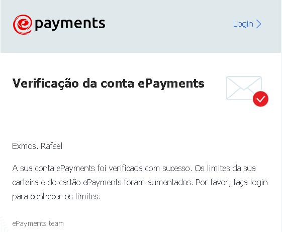 Conta Verificada Confirmação no E-mail