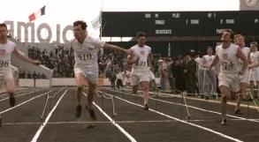 Abrahams en su victoria en 100 metros de Paris 1924. En la ficción