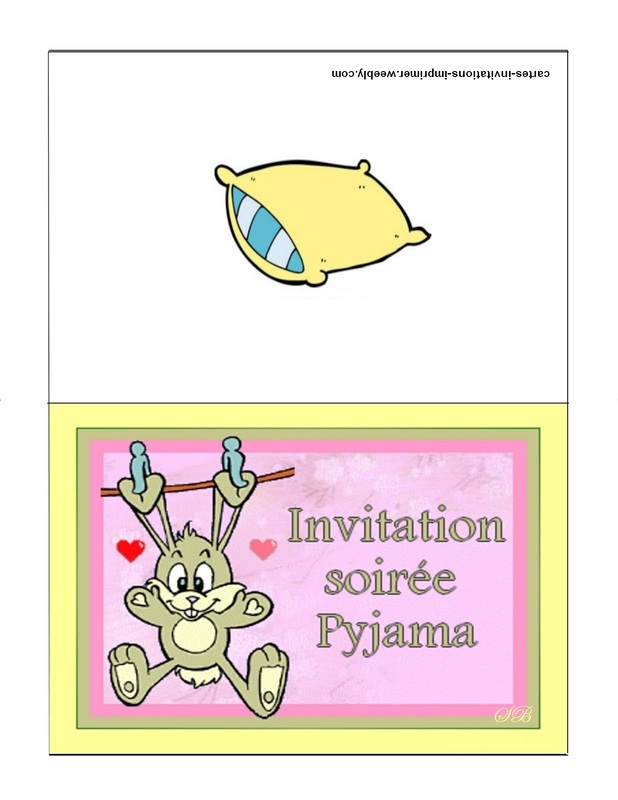 carte d invitation a imprimer gratuitement