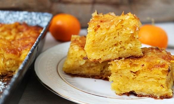 placinta greceasca cu portocale