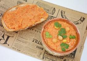 Hummus cu ardei copti
