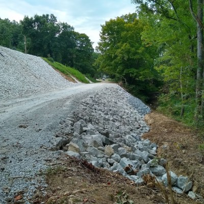 Slip repairs, like this one completed along Gregoryville Road lasat year, are among the types of projects covered by FEMA that may take the county more than a year to to reimbursed for.