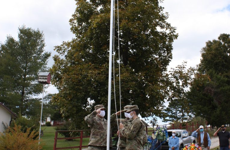 Pleasant Valley Cemetery Flag Pole Raising