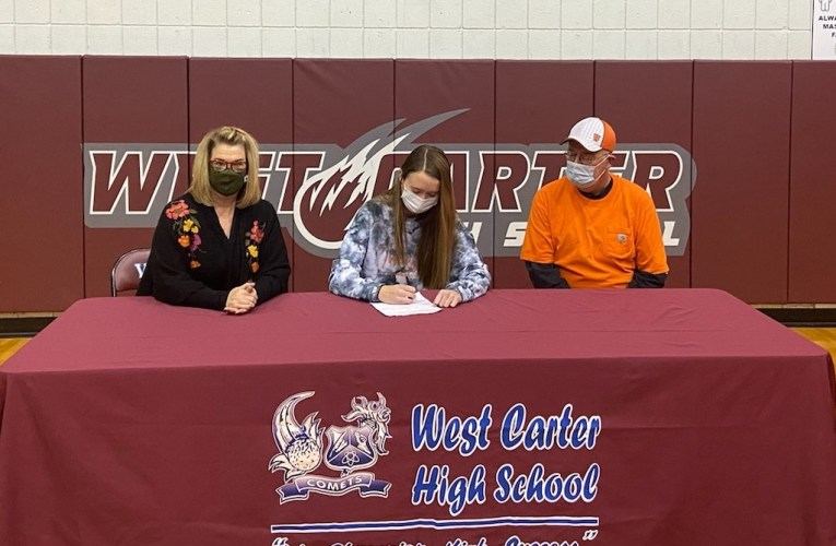 West Carter's Madison Adkins signs with Tusculum University