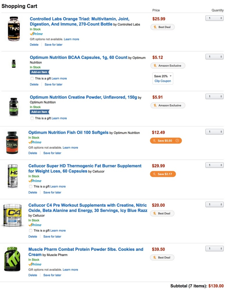 Monthly Supplements