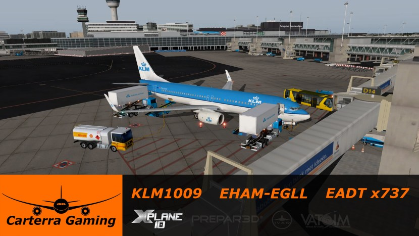 New Video! EHAM to EGLL in the x737 | Carterra Gaming