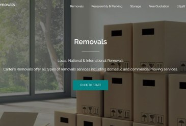 Carter Removals of Sherborne launch a new website