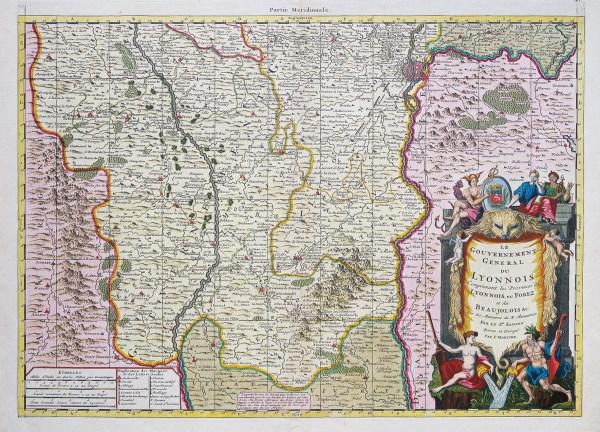 Carte géographique ancienne du Lyonnais