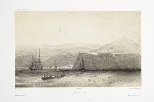Lithographie ancienne de Saint Hélène