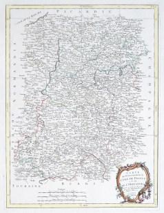Carte géographique ancienne - Le Gouvernement de L'Île de France et de l'Orléanois - original antique map