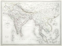 Antique Map - Indes - India - Carte géographique ancienne