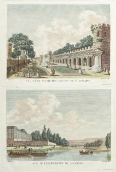 Gravure ancienne de Soissons