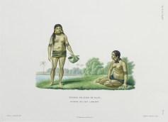 gravure ancienne - femmes de l'ile Oualan - iles Carolines