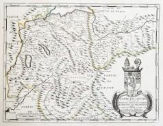 Carte géographique ancienne de Savoie - Genevois
