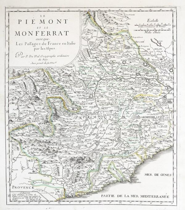 Carte géographique ancienne de Monferrat - Casale