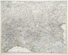 Carte géographique ancienne du nord de l'Italie - Nicolas Visscher