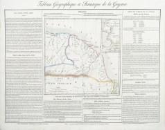 Carte originale de la Guyane