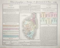 Carte originale de la Corse