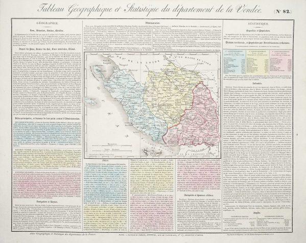 Carte originale de la Vendée