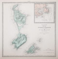 Carte géographique de Saint Pierre et Miquelon - Antique map