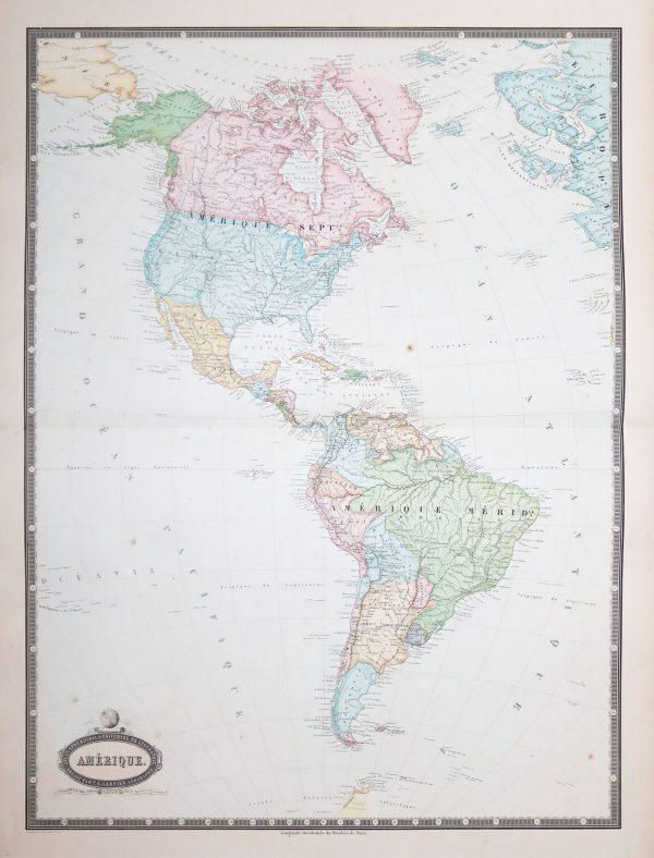 Carte géographique ancienne de l'Amérique - Antique map