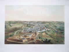 Gravure ancienne - Laon - Voyage Aérien en France