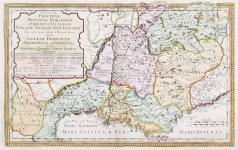 Gallia Provincia carte géographique ancienne